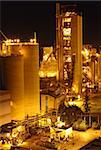 Cement Plant at night Stock Photo - Royalty-Free, Artist: cozyta                        , Code: 400-05752749