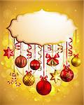 Beautiful christmas background with place for text. Vector illustration. Stock Photo - Royalty-Free, Artist: avian                         , Code: 400-05752775