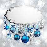 Beautiful christmas background with place for text. Vector illustration. Stock Photo - Royalty-Free, Artist: avian                         , Code: 400-05752776