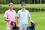 Young men on golf course