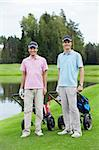 Young men on the golf course