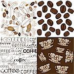 Set of backgrounds with coffee beans Stock Photo - Royalty-Free, Artist: hibrida13                     , Code: 400-05753312
