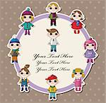 winter children card Stock Photo - Royalty-Free, Artist: notkoo2008                    , Code: 400-05753366