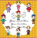 winter children card Stock Photo - Royalty-Free, Artist: notkoo2008                    , Code: 400-05753367