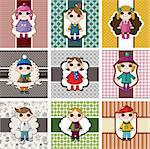 winter children card Stock Photo - Royalty-Free, Artist: notkoo2008                    , Code: 400-05753370
