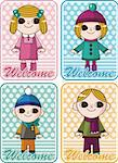 winter children card Stock Photo - Royalty-Free, Artist: notkoo2008                    , Code: 400-05753371