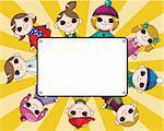 winter children card Stock Photo - Royalty-Free, Artist: notkoo2008                    , Code: 400-05753373