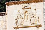 close up of church in Cuenca, Castile-La Mancha, Spain