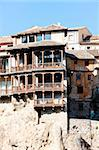 hanging houses, Cuenca, Castile-La Mancha, Spain Stock Photo - Royalty-Free, Artist: phbcz                         , Code: 400-05753432