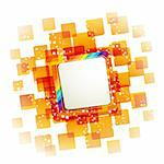 Square backgrounds with rainbow on white Stock Photo - Royalty-Free, Artist: Merlinul                      , Code: 400-05753552