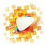 Square backgrounds with rainbow on white Stock Photo - Royalty-Free, Artist: Merlinul                      , Code: 400-05753553