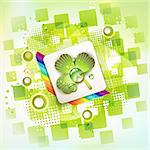 Square backgrounds with clover Stock Photo - Royalty-Free, Artist: Merlinul                      , Code: 400-05753557