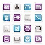 Communication and media icons - vector icon set Stock Photo - Royalty-Free, Artist: stoyanh                       , Code: 400-05753629