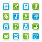 Healthcare and Medicine icons - vector icon set Stock Photo - Royalty-Free, Artist: stoyanh                       , Code: 400-05753633