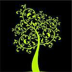 Beautiful art tree isolated on black background Stock Photo - Royalty-Free, Artist: inbj                          , Code: 400-05753871