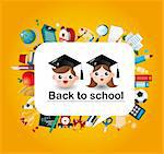 cartoon school icons card   Stock Photo - Royalty-Free, Artist: notkoo2008                    , Code: 400-05753926