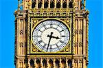 Closeup of Big Ben in London, United Kingdom
