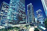 Tall office buildings by night Stock Photo - Royalty-Free, Artist: cozyta, Code: 400-05754672