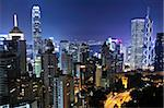 Hong Kong at night Stock Photo - Royalty-Free, Artist: leungchopan                   , Code: 400-05754742