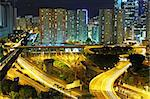 Hong Kong downtown at night Stock Photo - Royalty-Free, Artist: leungchopan                   , Code: 400-05754820