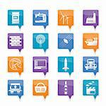 Business and industry icons- vector icon set Stock Photo - Royalty-Free, Artist: stoyanh                       , Code: 400-05754869