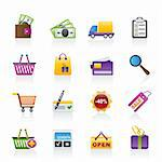Shopping and website icons - vector icon set Stock Photo - Royalty-Free, Artist: stoyanh                       , Code: 400-05755233