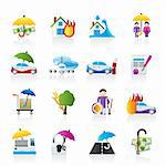 Disaster and risk icons - vector icon set Stock Photo - Royalty-Free, Artist: stoyanh                       , Code: 400-05755250