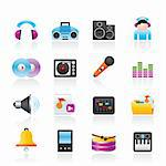Music and sound Icons Vector Icon Set Stock Photo - Royalty-Free, Artist: stoyanh                       , Code: 400-05755251