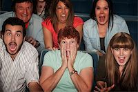 people in panic - Shocked group of 7 people in theater Stock Photo - Royalty-Freenull, Code: 400-05755793