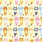 cartoon animal seamless pattern Stock Photo - Royalty-Free, Artist: notkoo2008                    , Code: 400-05755798