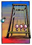 Conceptual Illustration of Newton's Cradle and Male and Female Gender Symbols Stock Photo - Premium Royalty-Free, Artist: James Wardell, Code: 600-05756479