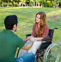 Disabled Couple Stock Photo - Premium Royalty-Freenull, Code: 6106-05758692