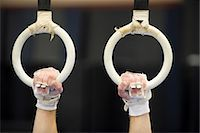 Gymnast's hands gripping the rings, cropped Stock Photo - Premium Royalty-Freenull, Code: 632-05759567
