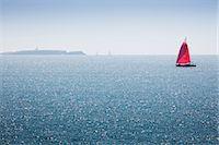 sailboat  ocean - Sailboat off the coast of Belle-Ile-en-Mer, Morbihan, Brittany, France Stock Photo - Premium Royalty-Freenull, Code: 632-05759604