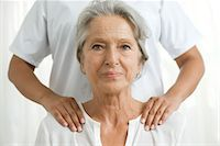 services - Senior woman getting a shoulder massage Stock Photo - Premium Royalty-Freenull, Code: 632-05760498