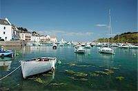 Boats in marina, Sauzon, Belle-Ile-en-Mer, Morbihan, Brittany, France Stock Photo - Premium Royalty-Freenull, Code: 632-05760525