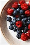 Blueberries and Raspberries in Milk Stock Photo - Premium Royalty-Free, Artist: John Cullen, Code: 600-05762136