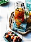 Citrus Cocktails with Mellon Balls wrapped in Prosciutto Stock Photo - Premium Royalty-Free, Artist: John Cullen, Code: 600-05762137