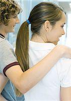 preteen girl boyfriends - Teen couple, rear view Stock Photo - Premium Royalty-Freenull, Code: 695-05763379
