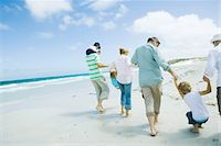 Family on beach Stock Photo - Premium Royalty-Freenull, Code: 695-05766120
