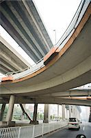Overpasses, low angle view Stock Photo - Premium Royalty-Freenull, Code: 695-05767349
