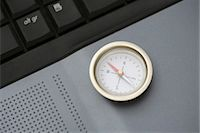 Compass on laptop computer, close-up Stock Photo - Premium Royalty-Freenull, Code: 695-05770555