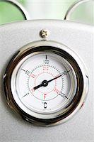 Temperature gauge on espresso machine Stock Photo - Premium Royalty-Freenull, Code: 695-05770920