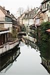 France, Colmar, Petite Venise, houses along reflective canal Stock Photo - Premium Royalty-Free, Artist: Daryl Benson, Code: 695-05771866