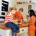 Children preparing vegetables in kitchen Stock Photo - Premium Royalty-Free, Artist: AWL Images, Code: 695-05774409