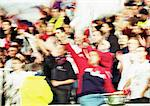 Soccer fans at a match, blurred. Stock Photo - Premium Royalty-Free, Artist: Bryan Reinhart, Code: 695-05775799
