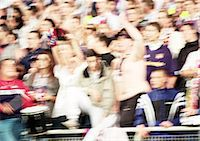 soccer fan - Soccer fans at a match, blurred. Stock Photo - Premium Royalty-Freenull, Code: 695-05775800