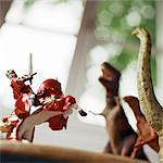 Toy knight fighting against toy dinosaurs Stock Photo - Premium Royalty-Free, Artist: Aflo Relax, Code: 695-05776533