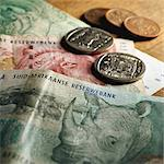 South African paper money and coins Stock Photo - Premium Royalty-Free, Artist: Ikon Images, Code: 695-05776599