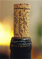 Cork in wine bottle Stock Photo - Premium Royalty-Freenull, Code: 695-05778524